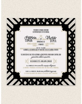 Invitatie digitala Deco Pattern