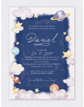 Invitatie digitala Outer Space