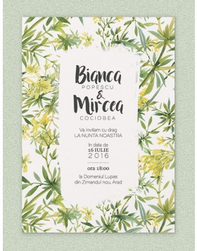 Invitatie digitala Tropical Touch