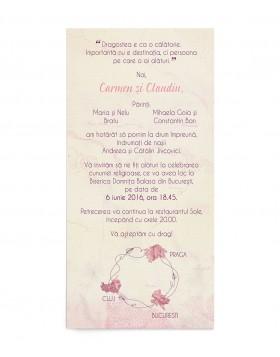 Invitatie de nunta Love to Travel