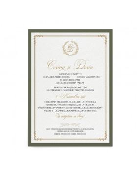 Invitatie de nunta Elegant Monogram