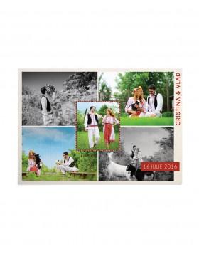 Invitatie de nunta Postcard Etno