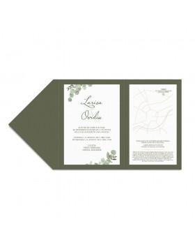 Invitatie de nunta Eucalyptus Touch