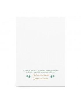Invitatie de nunta Eucalyptus Wreath