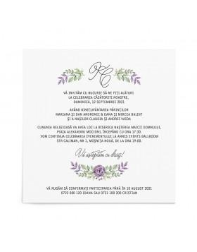 Invitatie de nunta Floral Celebration