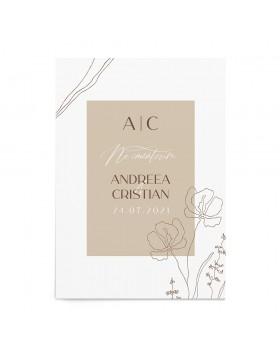 Invitatie de nunta Framed Wildflowers