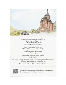 Invitatie de nunta City Blend