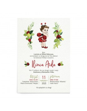 Invitatie de botez Little Lady