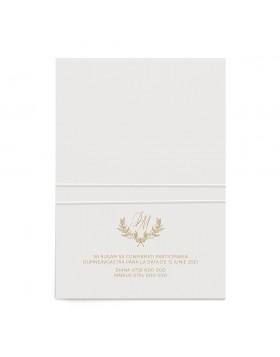 Invitatie de nunta Golden Beauty