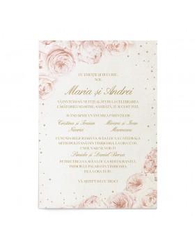 Invitatie de nunta Lovely Blush