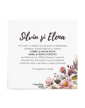 Invitatie de nunta Cherry Flowers