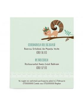 Invitatie de botez Pow Wow