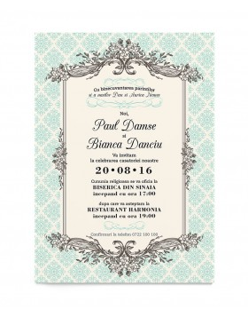 Invitatie de nunta Charming Classic