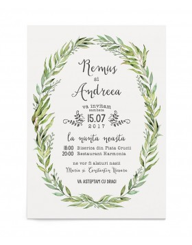 Invitatie de nunta Wreathed in Love