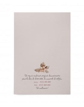 Invitatie botez Delicate Flowers