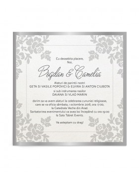 Invitatie de nunta Silver Lace