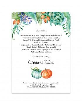 Invitatie de nunta Pumpkin Patch