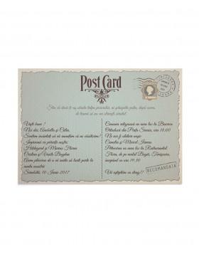 Invitatie de nunta Postcard Stamp