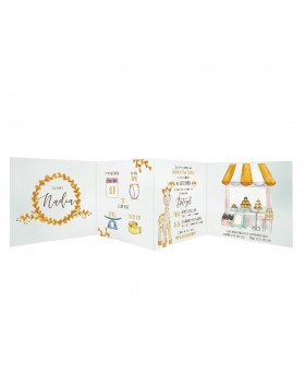 Invitatie de botez Sweet Giraffe Photo Strip