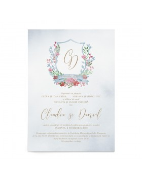 Invitatie Sweet Monogram