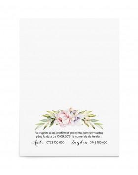 Invitatie de nunta Dreamy Bloom