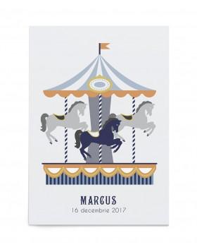 Invitatie zi de nastere Merry-go-round
