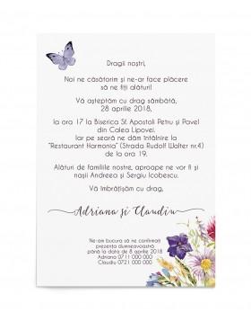 Invitatie de nunta Free Spirit