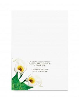 Invitatie de nunta Calla Lilly