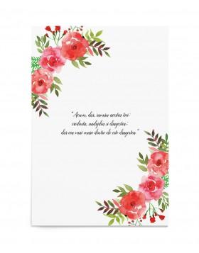 Invitatie de nunta Flowery Crest