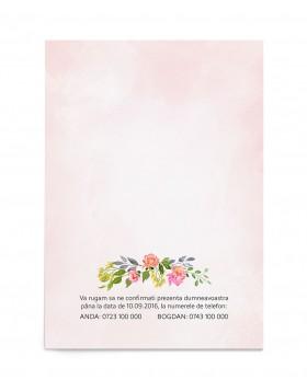 Invitatie de nunta Watercolor Rose