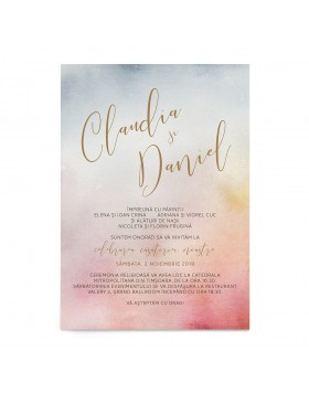 Invitatie Watercolor Mist