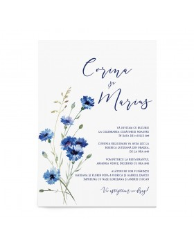 Invitatie Wild Blue