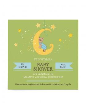 Invitatie pentru Baby Shower Dreamy Bear