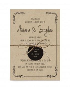 Invitatie de nunta Rustic Love