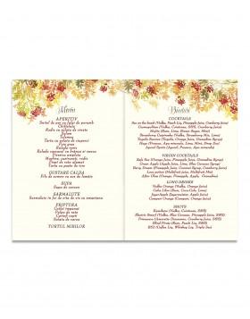 Meniu de nunta Autumn Leaves