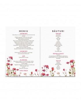 Meniu de nunta Flowery Field
