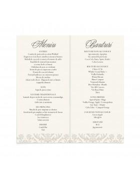 Meniu de nunta Elegant Charm
