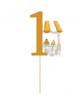 Numar de masa figurine Sweet Giraffe