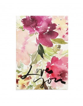 Felicitare Watercolor Love