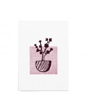 Art Print Cherry Tree Stamp