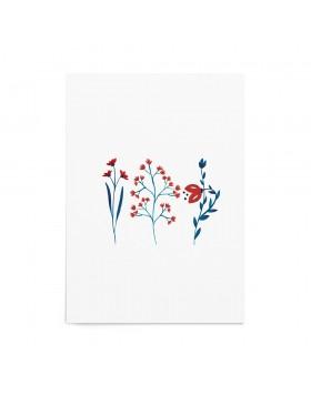 Art Print Folk Blossoms