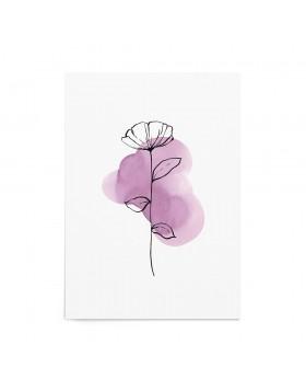 Art Print Magenta Poppy