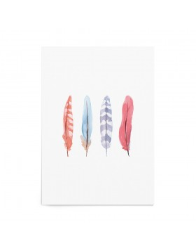 Art Print Pastel Feathers