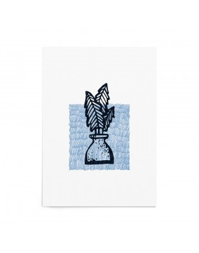 Art Print Philodendron Stamp