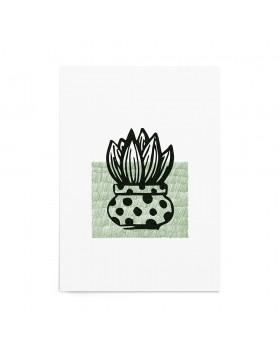 Art Print Succulent Stamp