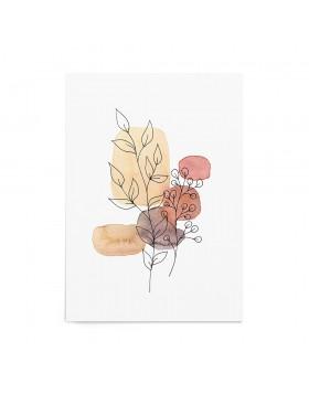Art Print Terracotta Flowers
