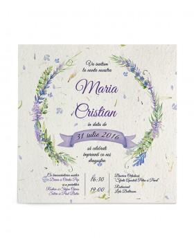 Invitatie de nunta Lavender Touch