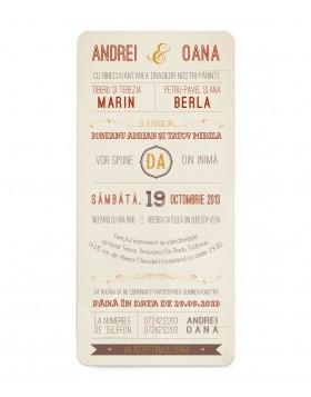 Invitatie Typography