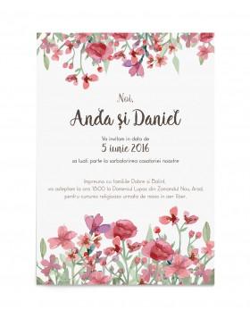 Invitatie de nunta Colorful Dream