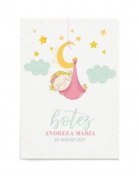 Invitatie botez Sleeping Baby